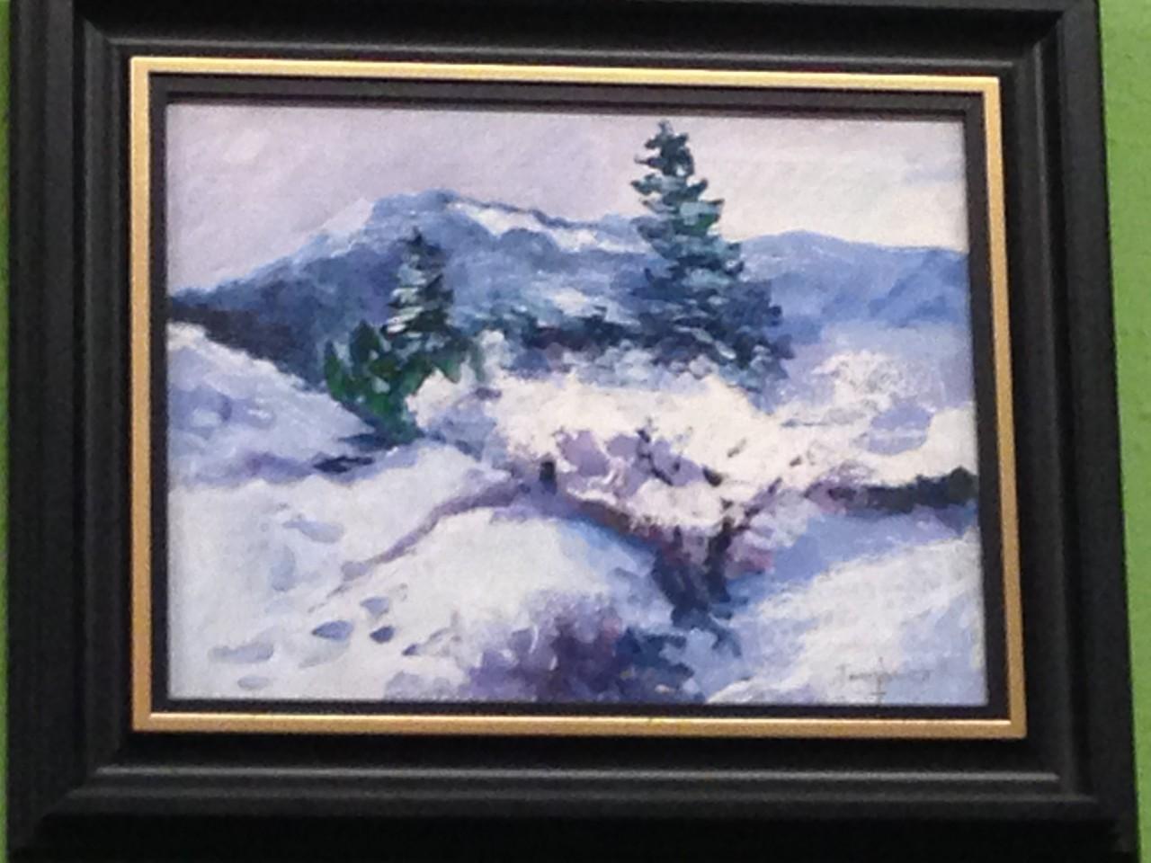 Tarr János havas erdő