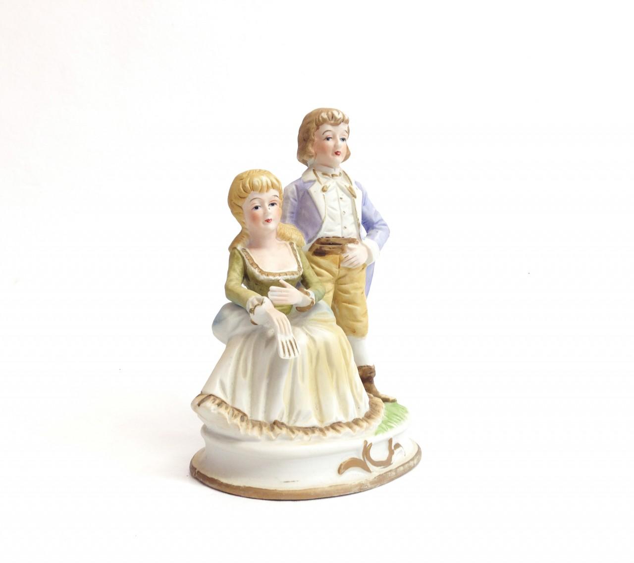 Porcelán szerelmes pár