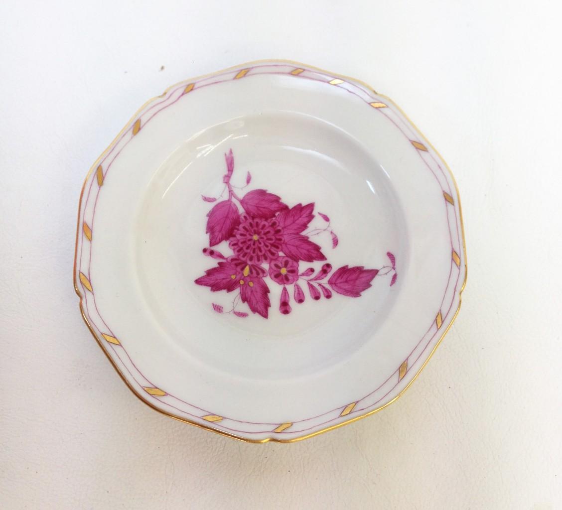 Herendi porcelán tányér