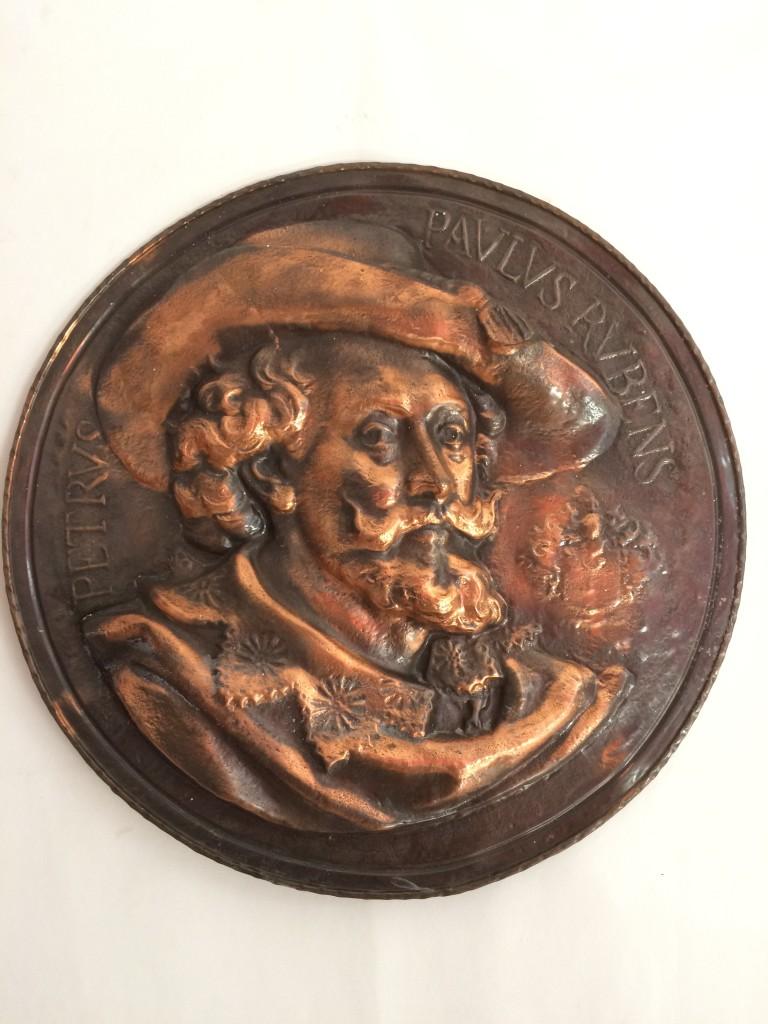 Rubensről készült réz relief