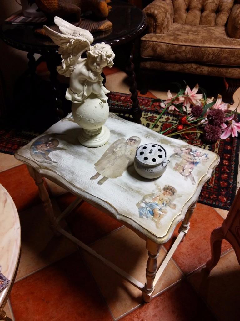 Karácsonyi lerakó asztalka
