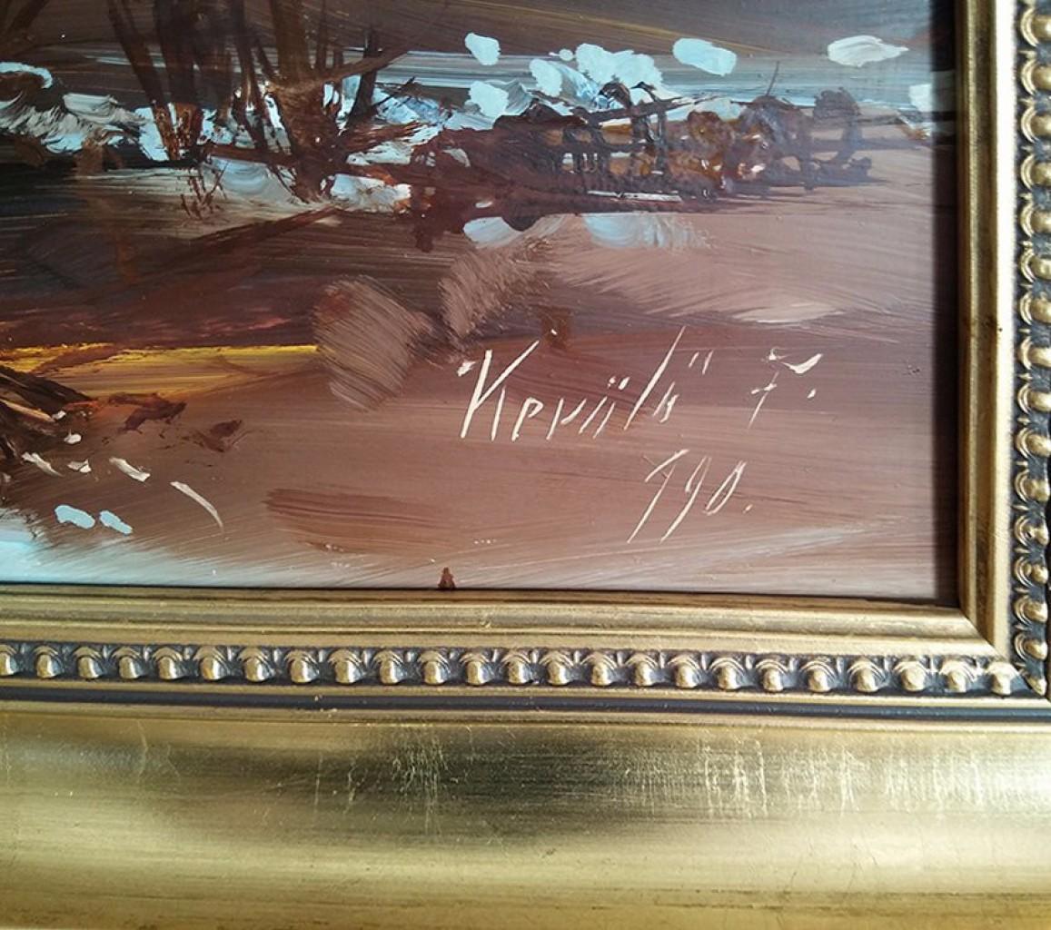 KERÜLŐ FERENC - keretezett festménye