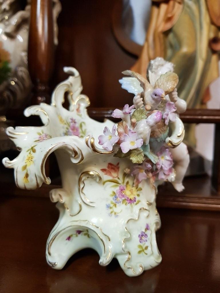 Antik porcelán dísz