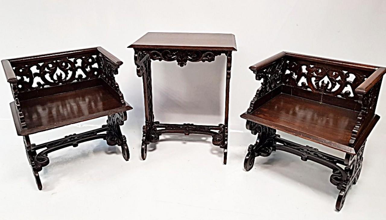 3 részes reneszánsz bútorszett