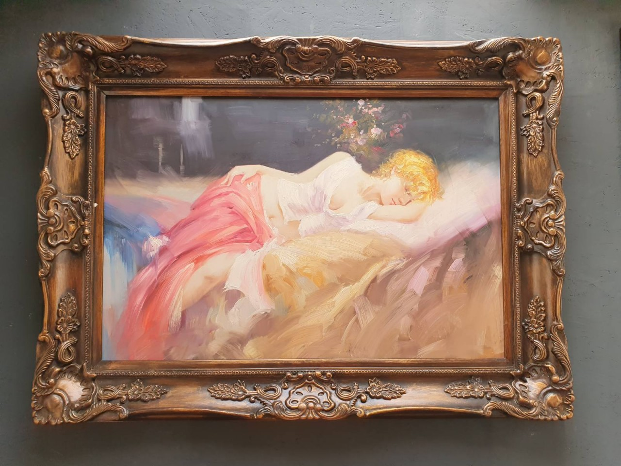 Keretezett akt festmény