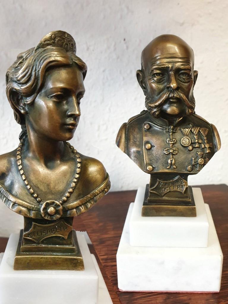 Ferenc József - Sissy, Wittelsbach Erzsébet magyar királyné büszt párban