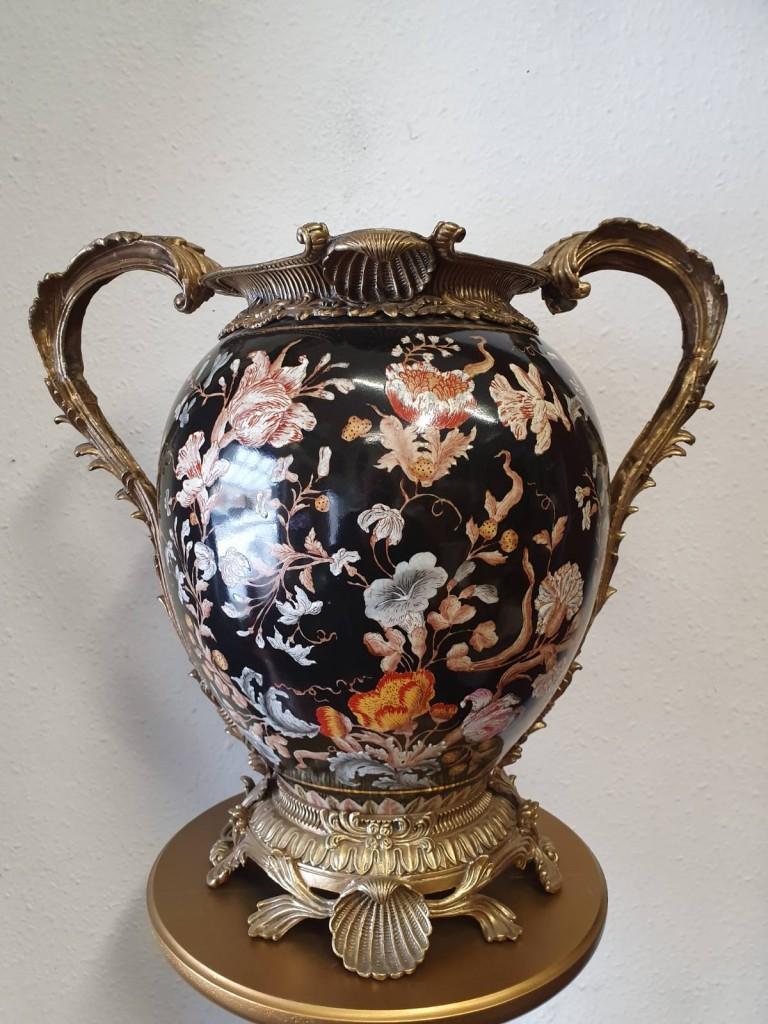 Kézzel festett réz porcelán edény
